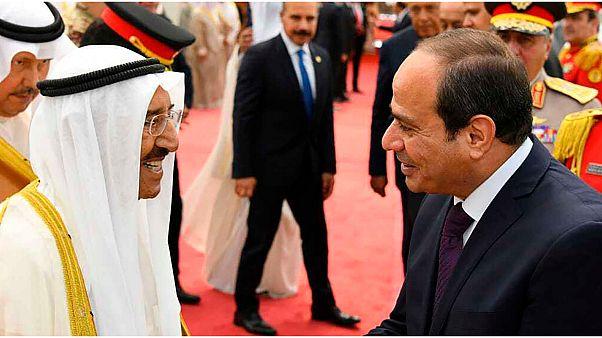 أمير الكويت الشيخ صباح الأحمد الجابر الصباح مع الرئيس المصري عبد الفتاح السيسي