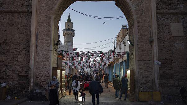 أحد مداخل المدينة القديمة في طرابلس العاصمة الليبية. 25/02/2020