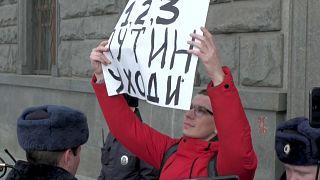 Разгон одиночных пикетов против репрессий