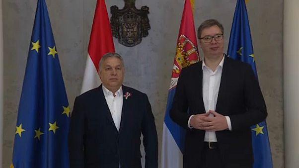 Orbán Viktor és Aleksandar Vučić