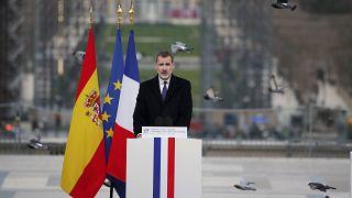 الملك الإسباني فيليبي6 خلال زيارة إلى باريس - 2020/03/11