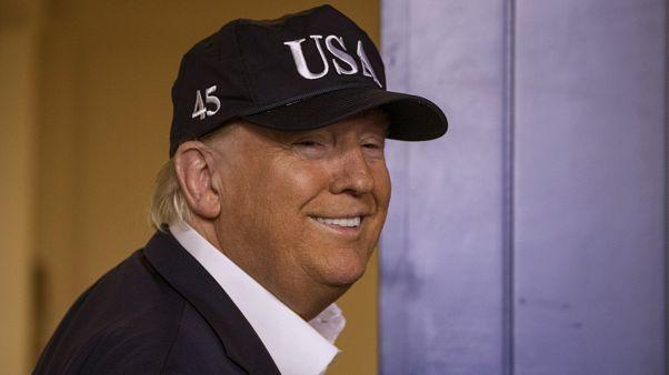 الرئيس الأمريكي دونالد ترامب في البيت الأبيض