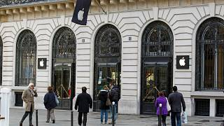 An Apple store in Paris