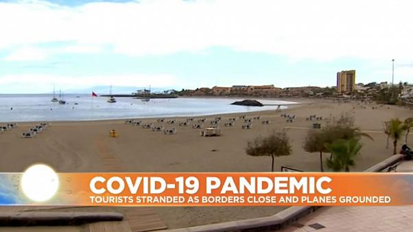 Tourists stranded across Europe as COVID-19 lockdowns kick in