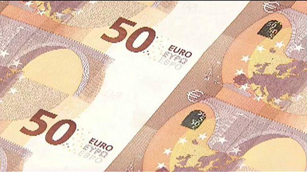 Ötveneurós bankjegyek a nyomdában