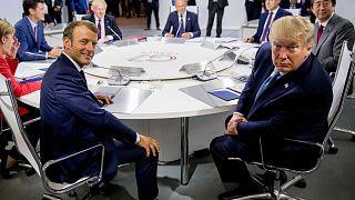 Paris G7 zirvesinden bir kare