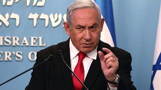 رئيس الوزراء الإسرائيلي المنتهية ولايته بنيامين نتنياهو