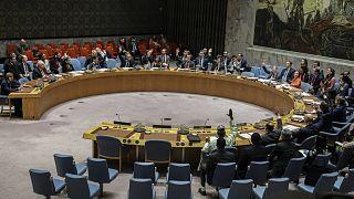 مجلس الأمن الدولي خلال التصويت على مشروع قانون بشأن اليمن