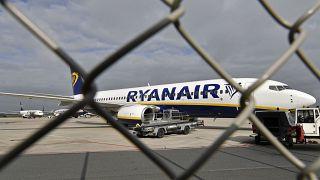 """طائرة تابعة لشركة """"ريان إير"""""""