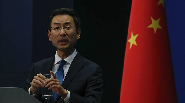 غينغ شوانغ المتحدث باسم الخارجية الصينية خلال مؤتمر صحافي