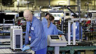 Beschäftigte in einem Apple-Werk in Austin (Texas)