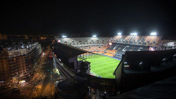 منظر عام لملعب ميستالا في فالنسيا - إسبانيا