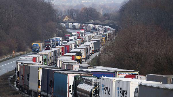 Пробки на границе Польши с Германией