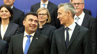NATO Genel Sekreteri Jens Stoltenberg ve Kuzey Makedonya Başbakanı Zoran Zaev