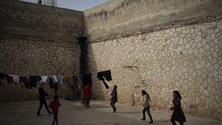 Suriye'nin İdlib kentindeki göçmen çocuklar