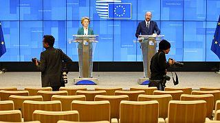 APTOPIX Belgium EU Virus Outbreak