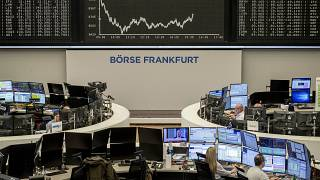 The curve of the German stock index DAX is seen at the stock market in Frankfurt, Germany, March 17, 2020,
