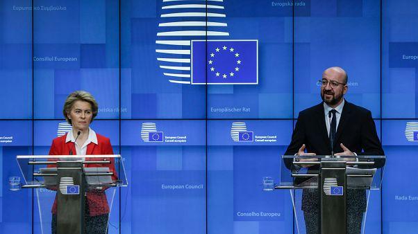 President of European Commission, Ursula Von der Leyen and the President of the European Council, Charles Michel
