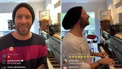 Coldplay's Chris Martin on Instagram live