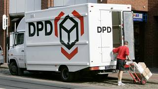 DPD Delivery truck in Germany, September 2019.