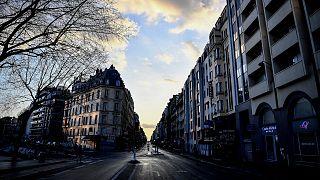 Les rues désertes de Paris le 19 mars 2020, troisième jour de confinement en France