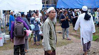 حجاج مسلمون في تجمع ديني كبير في غوا بإندونيسيا