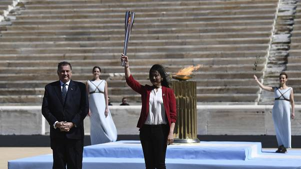Tokió 2020 - Olimpiai láng, Greece Tokyo Olympics Flame Virus Outbreak, Tokió 2020 - Olimpiai láng