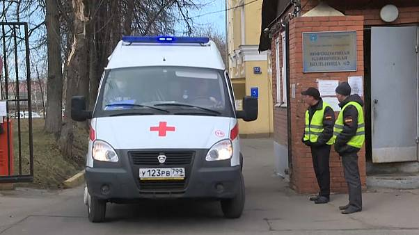 Инфекционная больница в Москве.