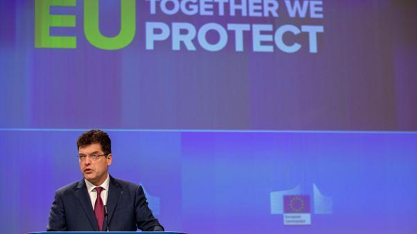 Le Commissaire européen chargé de la gestion des crises Janez Lenarčič