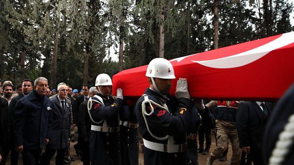 Suriye'de hayatını kaybeden Türk askeri için tören düzenlendi (arşiv)