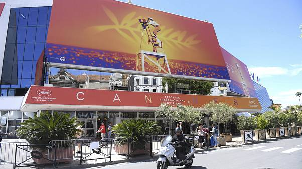 This May 13, 2019 file photo shows a view of the Palais des festivals during the 72nd international film festival, Cannes, southern France.