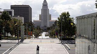 Le centre-ville de Los Angeles quasi désert, le 19 mars 2020.