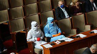 Virus Outbreak Bulgaria Parilament