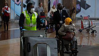 Aeroporto internacional O.R. Tambo , em Joanesburgo, África do Sul