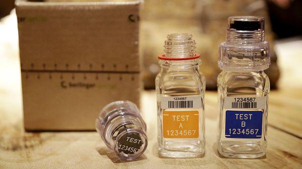 Olympics Doping Sample Bottles