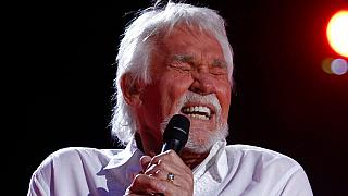 Kenny Rogers performs at the 2012 CMA Music Festival in Nashville, Tenn, June, 9, 2012.
