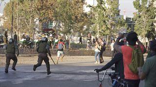 ویدئو؛ شیلیاییها کرونا را نادیده گرفتند و تظاهرات کردند