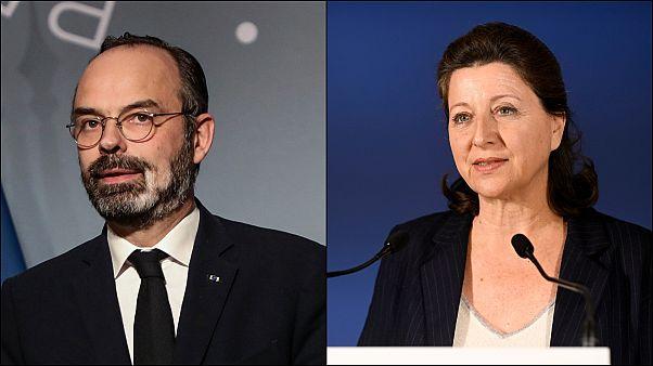 Başbakan Edouard Philippe ve eski Sağlık Bakanı Agnes Buzyn