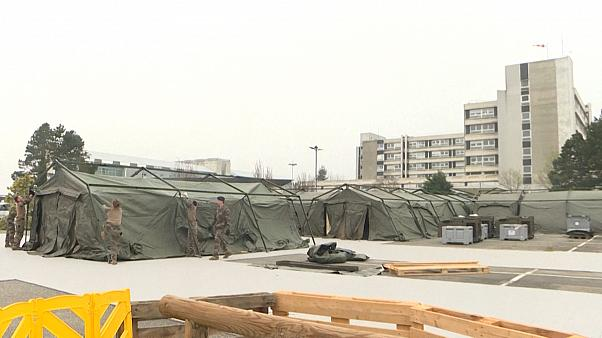 French military builds hospital camp to treat coronavirus cases