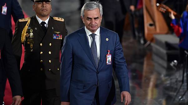 The President of the Autonomous Republic of Abkhazia, Raul Khadzhimba, in Caracas, Januray, 10, 2019.