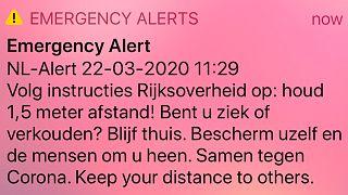 A holland kormány figyelmeztetése