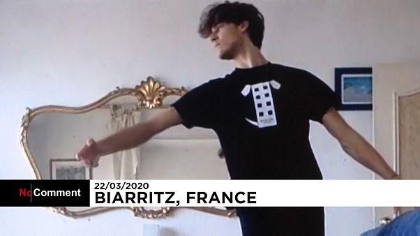 Coronavirus: Pariser Opernstar trainiert zu Hause