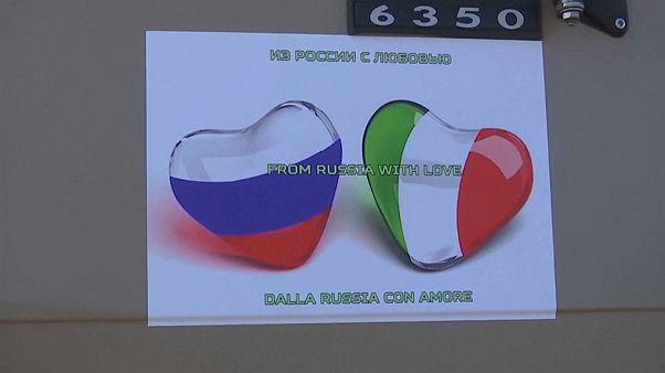 Rusia inicia el envío de ayuda a Italia con nueve aviones llenos de material médico y especialistas