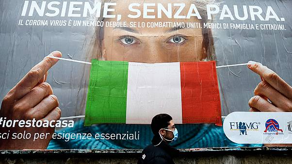 Naples en Italie, le 22 mars 2020.
