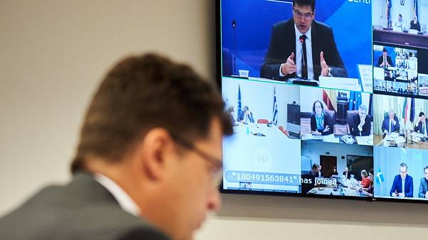 Participation of Stella Kyriakides and Janez Lenarčič, commissaires européens, at the 1st videoconference with EU ministers for health and interior in ERCC about COVID-19
