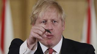 British Prime Minister Boris Johnson gives his daily COVID 19 coronavirus press briefing to announce new measures to limit the spread of the virus, at Downing Street in London