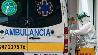 Une ambulance à Burgos, dans le nord de l'Espagne, le 23 mars 2020.