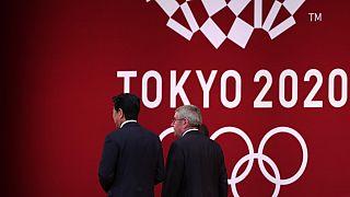 International Olympic Committee president Thomas Bach e Shinzo Abe - 24.7.2019