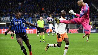 جانب من مبارة بين نادي أتالنتا بيرغامو الإيطالي وفالنسيا الإسباني في دوري أبطال أوروبا 19.02.20