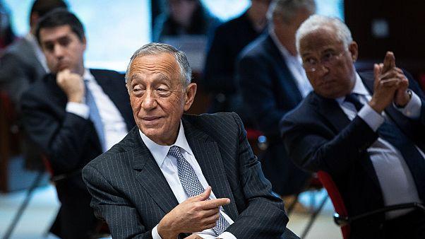 Presidente Marcelo Rebelo de Sousa ao lado do primeiro-ministro António Costa